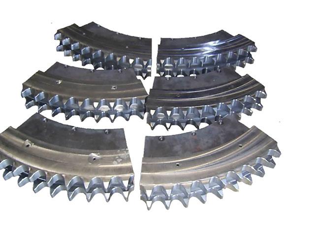 Roue dentée en section sur demande / Sprocket in section made-to-order